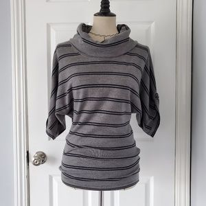 Theory Cowl Neck Short Sleeve Sweater Top